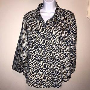 Westbound Zebra Print Jacket
